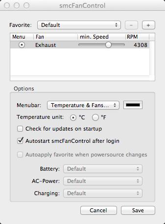 smcFanControl Interface